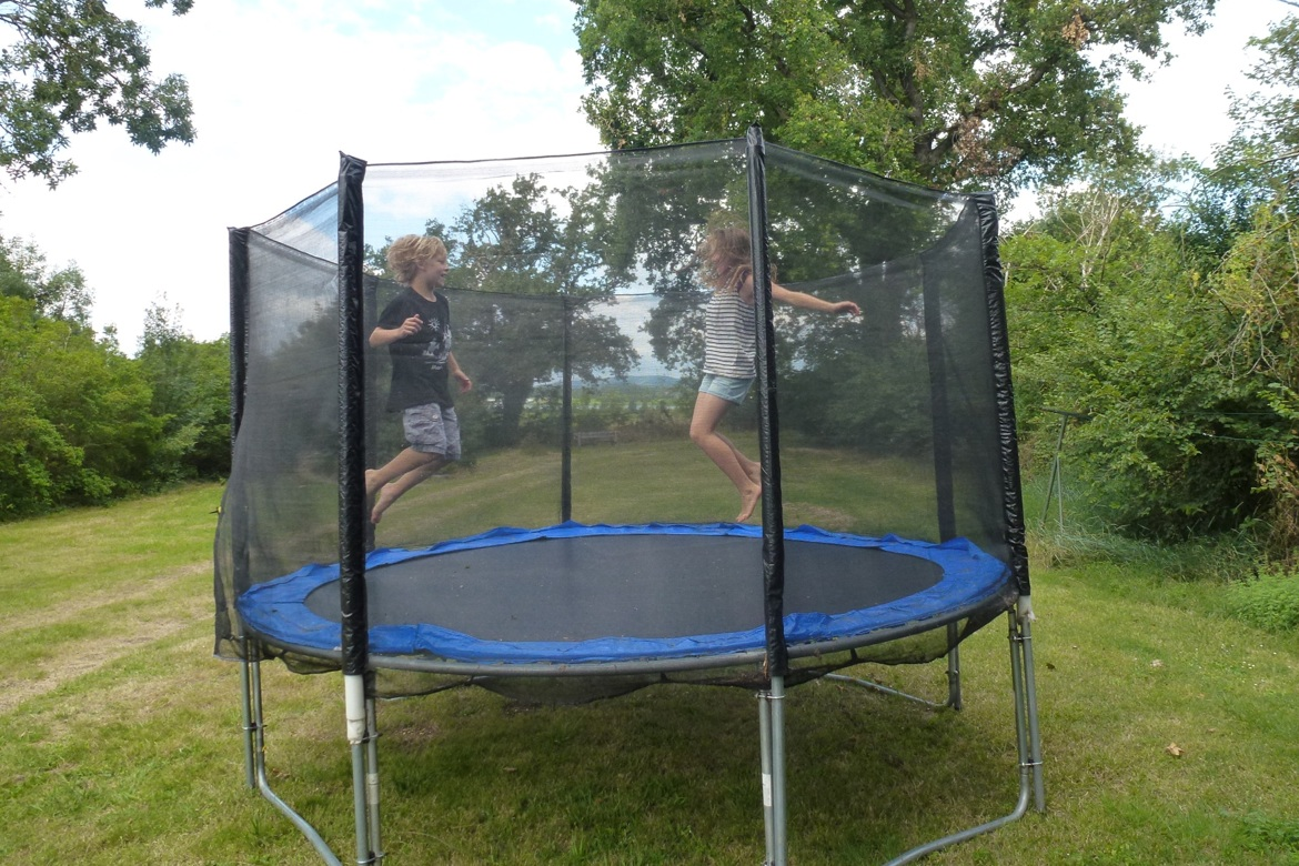 Kids love the trampoline